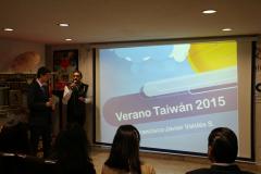 Presentación en evento de intercambio de experiencias en Taiwan